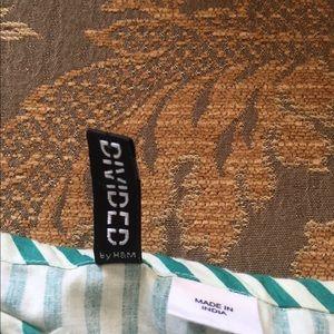 Topshop Dresses - Beautiful H&M Green Stripe Summer Dress